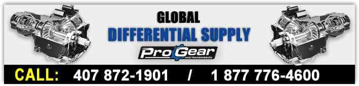 Global Differential Supply powered by ProGear and transmission. Call today 877-776-4600